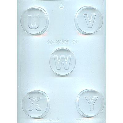 Cookie Mold Letters  U,V,W,X,Y