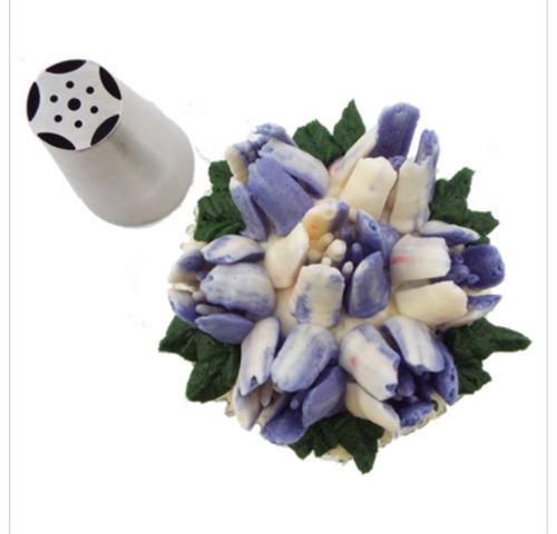 Velvet Tulip Bloom Flower Decorating Tip