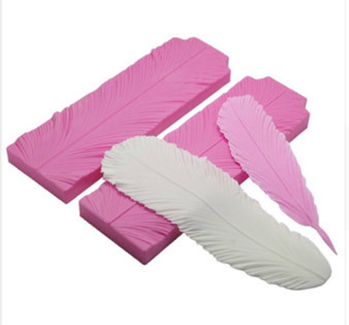 Feather Vainer impression  silicone Mold 2pc set