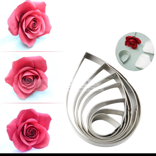 Rose Flower Cutter Set 6pc Single Petal