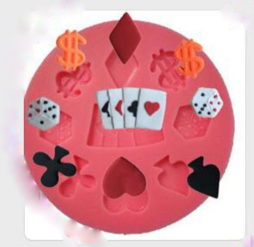 Card Suit Money Casino small Mold