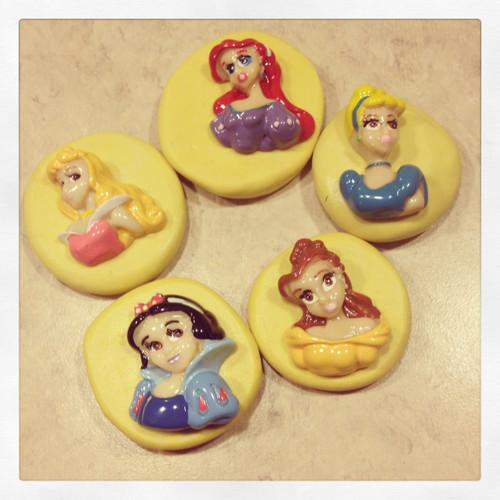 Princess Set Snow White Cinderella Belle Silicone mold