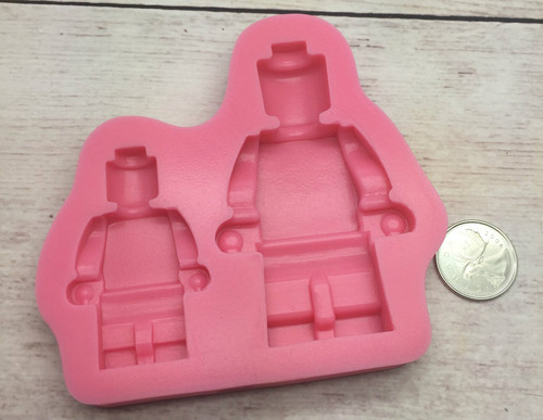 2pc Lego Man Silicone Mold