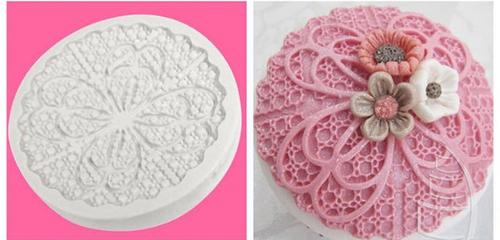 Round Cupcake  Topper Silicone Mold (1)