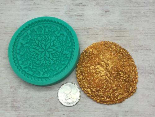 Round Cupcake  Topper Silicone Mold (2)