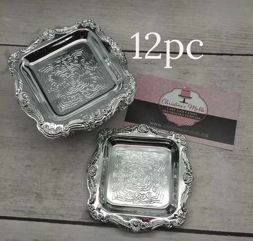 12pc Silver Tray Mini 3""