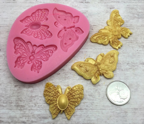 Butterfly 3pc Silicone Mold Set