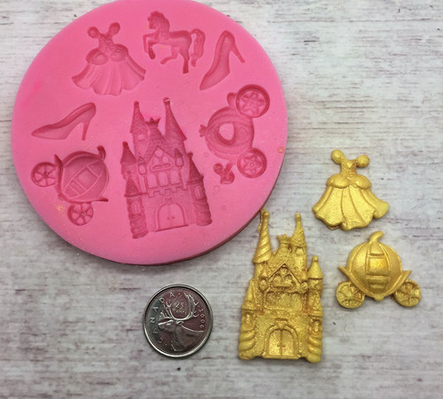 Princess Mold  7pc Silicone Mold Set