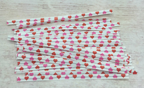Hearts Twist Tie  50pc