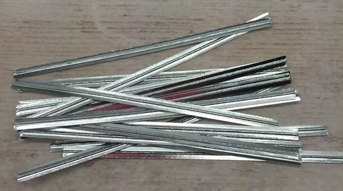 "Silver  Metalic 3.5""  Twist Tie  50pc"