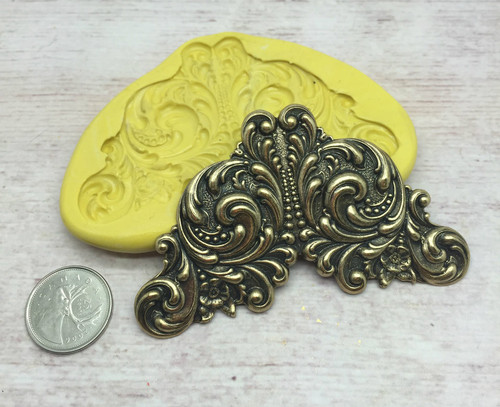 Art Nouveau Scroll Mold Silicone