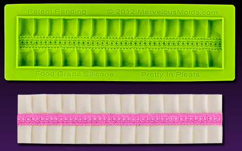 """Pretty in Pleats"" - Silicone Cake Border Marvelous Molds"