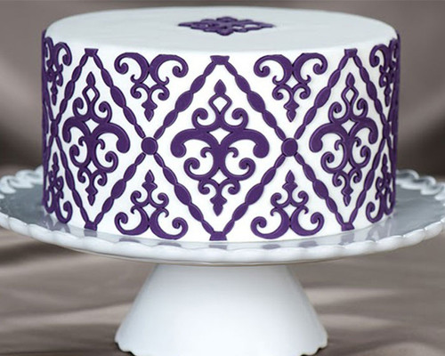 Filigree Damask Pattern Silicone Onlay® Marvelous Molds