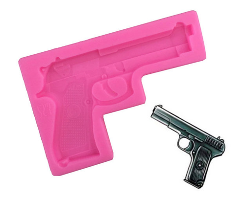Large Hand Gun  Silicone Mold
