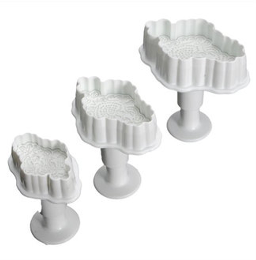 Lace Applique  Plunger Set 3pc