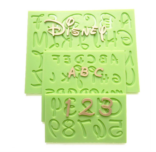 Disney Alphabet and Number Silicone Mold set