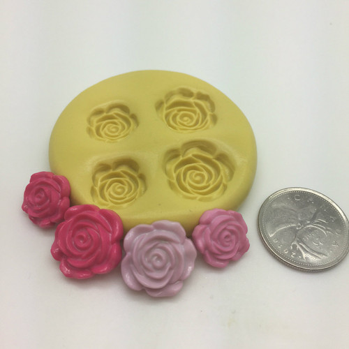 Small Flower Rose Set  Silicone Mold