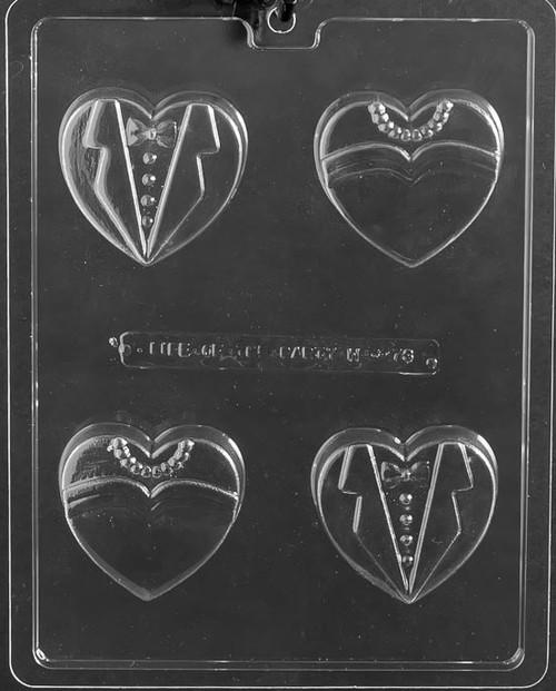 Bride Groom Heart Cookie