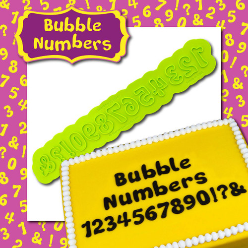 Bubble Number Flexabet  by Marvelous Molds