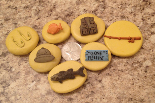 Fishing Set Father Day Molds  Silicone