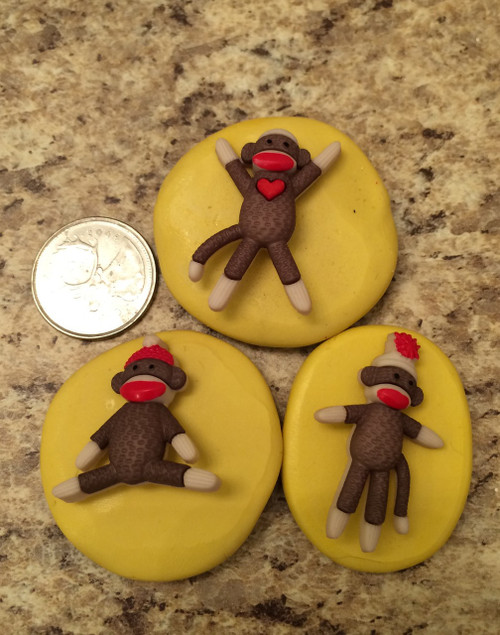 Sock Monkey  Mold Set  Silicone