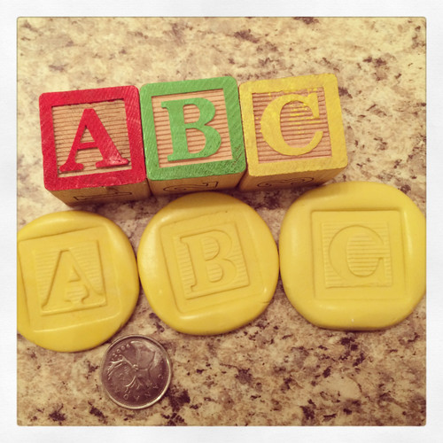 Baby Block Letters Alphabet  PICK YOUR LETTERS