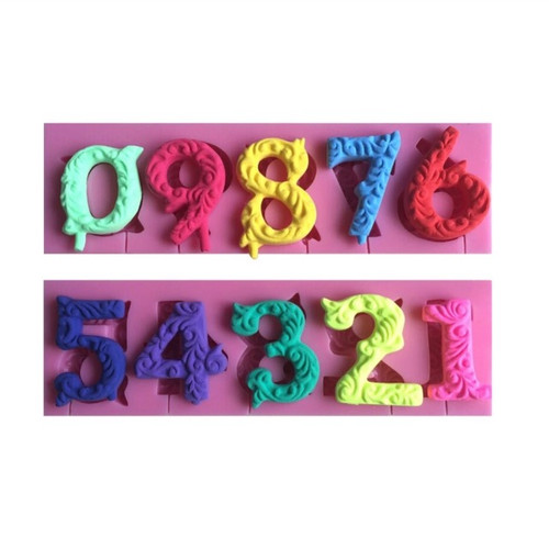 Fancy Number Mold Set