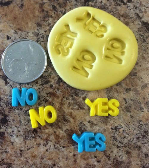 XS Yes And No MOLD  Silicone mold