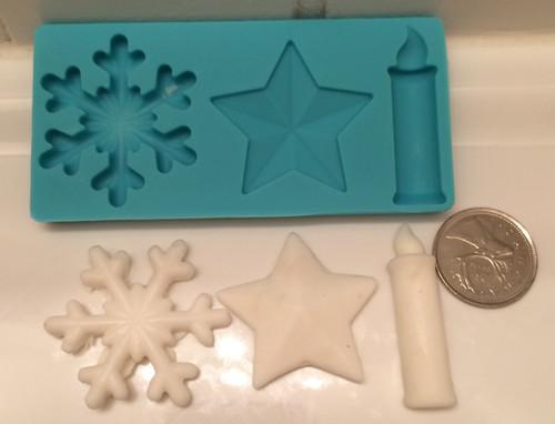 Christmas Mold Set SnowFlake Star and Candle