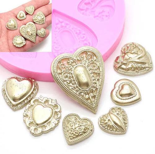 Heart Set Silicone Mold