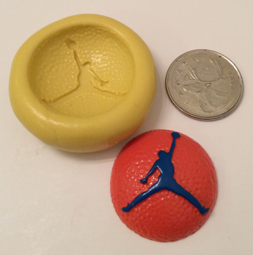Basket ball Jump Man Silicone Mold