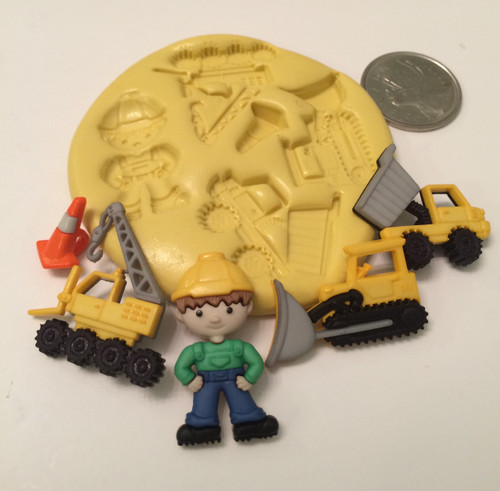 Construction Man truck Silicone Mold set