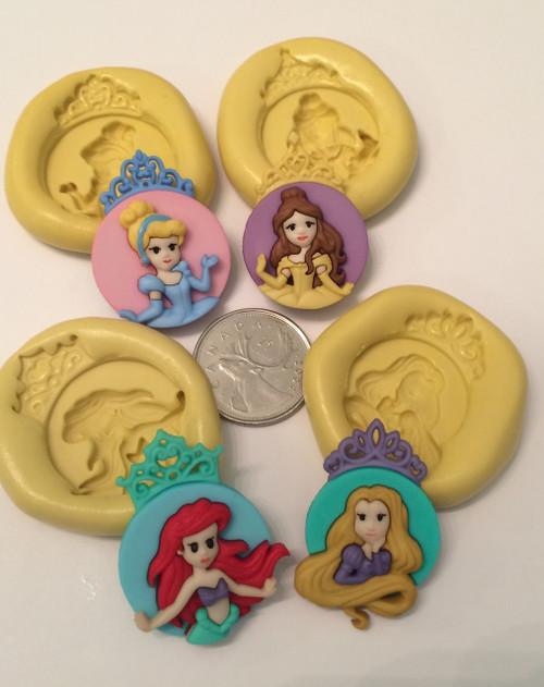 princess Cameo  Silicone Mold Set