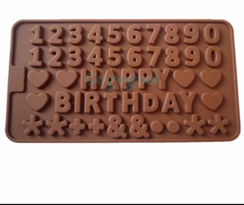 Happy Birthday with Numbers Silicone Mold Set
