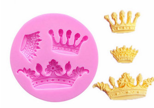 3 pcs Crown Silicone Mold Set