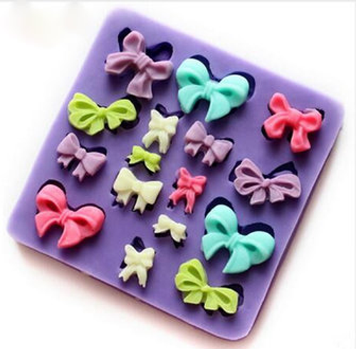 16 pcs Mini Bow Silicone Mold Set
