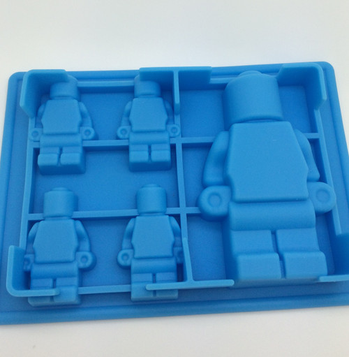 Lego Block Man 5 Cavity Mold