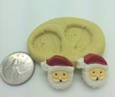 Mini Santa Face Set Silicone Mold