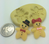 Ginger Bread Man and Women  Set Silicone Mold
