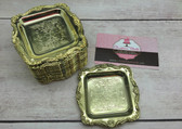 "12pc Gold Mini 3"" Tray"