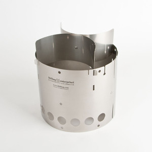 Littlbug Senior wood backpacking stove shown assembled.