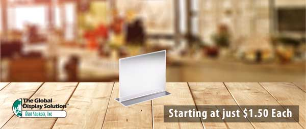 Acrylic Sign Holder - Starting at just $1.50