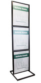 """Three-Tier Poster Stand Display - Black - 22""""w x 28""""h 1/Pack"""