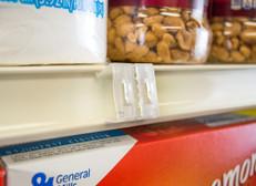 Double Duty Sign Clip - Retail Shelf Channel Mount - Durable PVC