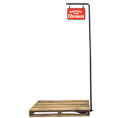 Pallet Sign Holder - Adjustable Post Height