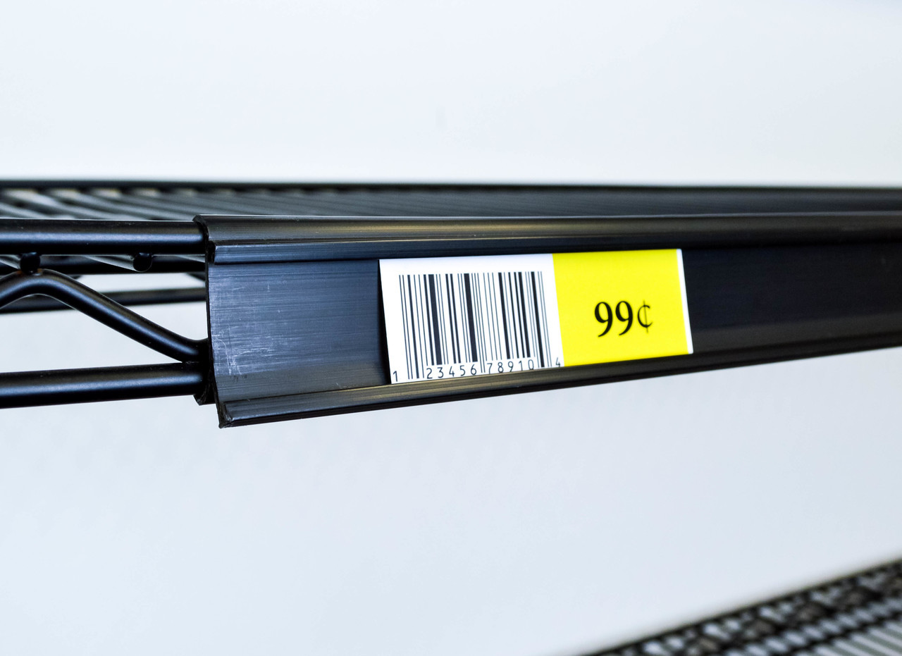 Price Tag Molding Ticket Holder For Metro Style Wire Shelf