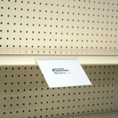 "Shelf Edge Sign Holder - Top Mount - 5.5""w x 3.5""h  25/Pack"