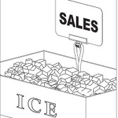 Spear Clip - Crushed Ice merchandising Display Clip