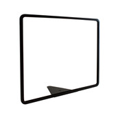 "Wedge Base Metal Sign Holder -  Black Powder Coated Finish - Fits  14""w X 11""h Sign Insert"