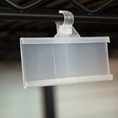 "Hanging C-channel Ticket Holder - Fits 1"" - 1/4"" Paper tickets - Attaches to Wire Shelf 50/Pack"